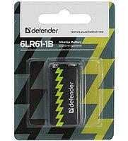 Батарейка Defender 9V [6LR61-1B], alkaline, 1pc pack (56042)