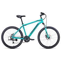 Велосипед 26' Forward Hardi 2.1 disc, 2021, цвет мятный/черный, размер 18'