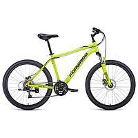 Велосипед 26' Forward Hardi 2.1 disc, 2021, цвет ярко-желтый/черный, размер 18'