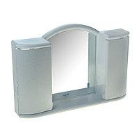 Шкафчик зеркальный для ванной комнаты 'Арго', цвет белый мрамор