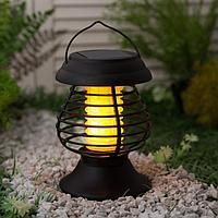 Садовый светильник на солнечной батарее Uniel, 13 LED, эффект пламени и антимоскитный режим