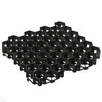 Решётка газонная, 40 × 40 × 3,5 см, чёрная