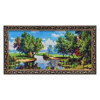 Гобеленовая картина 'Лебеди на пруду' 45х85 см