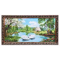 Гобеленовая картина 'На реке' 45х85 см