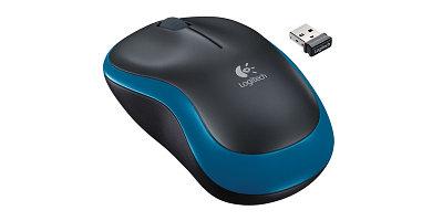 Мышь Logitech M185 оптическая беспроводная USB, синий [910-002239]