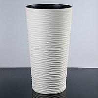 Кашпо со вставкой 'Фьюжн', 21 л (10 л), цвет белая роза