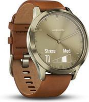 """Смарт-часы Garmin Vivomove HR Premium, 1.5""""/128x64, BT, Brown-Gold"""