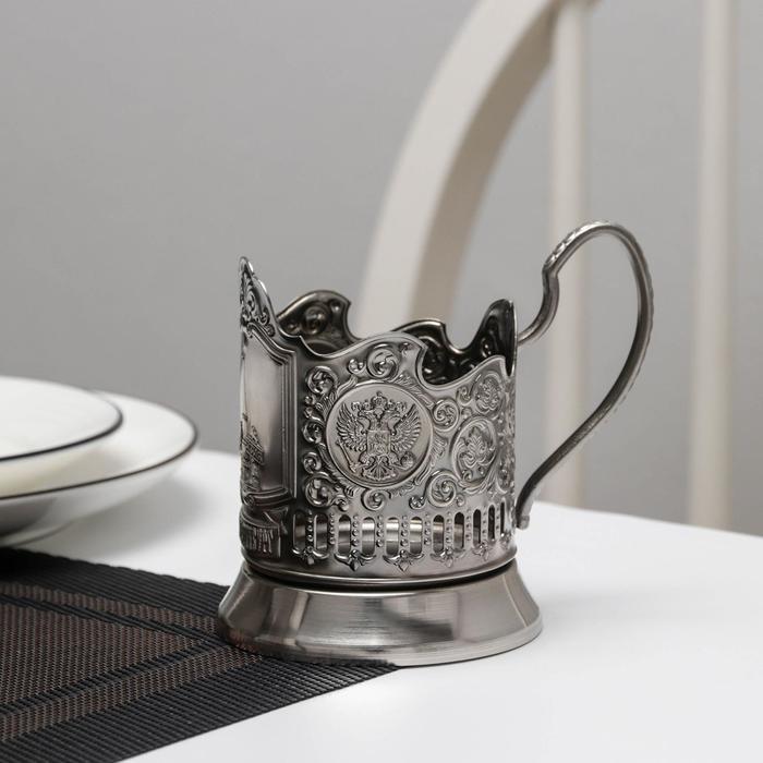 Подстаканник 'Екатеринбург', никелированный, с чернением - фото 1