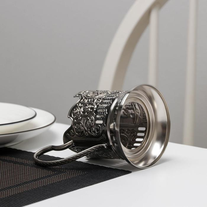 Подстаканник 'Екатеринбург', никелированный, с чернением - фото 4