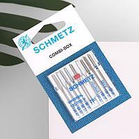 Иглы для бытовых швейных машин, комбинированные, 70-100, 9 шт