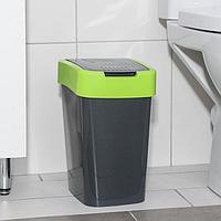 Ведро для мусора 'Евро', 10 л, цвет гранит-оливковый