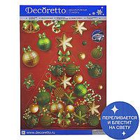Наклейки Decoretto 'Елка на красном фоне' 35х50 см