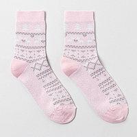 Носки женские, цвет розовый, р-р 23-25