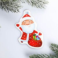 Шильдик на подарок Новый год 'Дед мороз', 6,5 x8,2 см (комплект из 25 шт.)