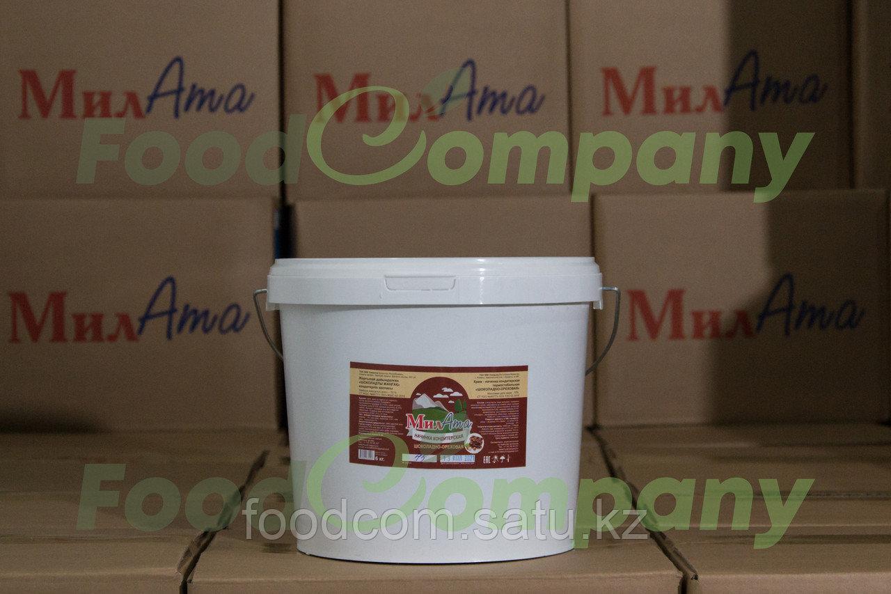 """МилАТА """"Шоколадно - ореховая"""" - молочная кондитерская начинка (термостабильная), 20кг - фото 2"""