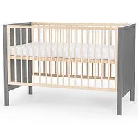 Детская кроватка Kinderkraft с матрасом LUNKY Grey