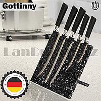 Набор ножей Gottinny 5 штук на магнитной подставке G-155 черные