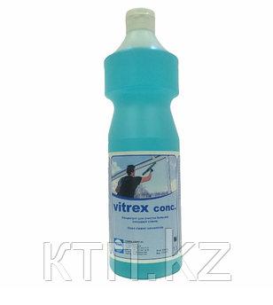 Концентрат для очистки больших стеклянных площадей  Vitrex-Conc, 1л. (15 – 30 г на 10 л воды).