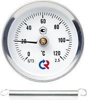 Термометры биметаллические с пружиной для крепления на трубе Росма