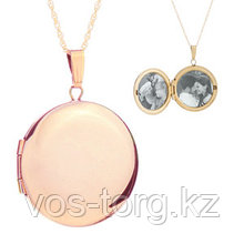 "Кулон-медальон ""Медальон для фото"" розовая позолота"
