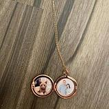 "Кулон-медальон ""Медальон для фото"" розовая позолота, фото 3"