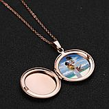 "Кулон-медальон ""Медальон для фото"" розовая позолота, фото 5"