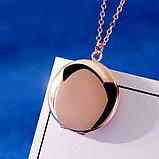 "Кулон-медальон ""Медальон для фото"" розовая позолота, фото 2"