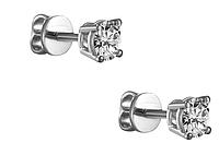 Золотые серьги с бриллиантами 0,12 карат