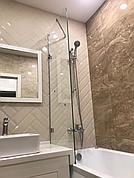 Шторка на ванну из стекла неподвижная