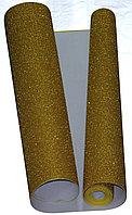 Глиттерный фоамиран 1 мм. в рулоне (1 х 5 м.) - золотистый