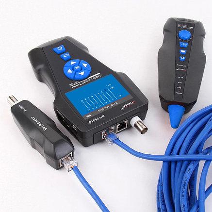 NF-8601S Многофункциональный тестер для LAN, телеф, коакс. кабеля, Ping-тест, определение PoE, цв.дисплей, фото 2