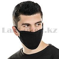 Многоразовая защитная маска дышащаяся тонкая от пыли Fashion Bad Boy черная