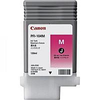 Чернила Canon/PFI-104M/Струйный широкоформатный/пурпурный/130 мл