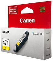 Чернила Canon, CLI-471 Y, Струйный, желтый, 7 мл