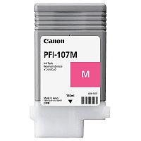 Тонер Canon, PFI-107M, Струйный широкоформатный, №107, пурпурный, 130 мл