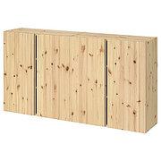 IVAR ИВАР Навесной шкаф с дверями, сосна, 160x30x83 см