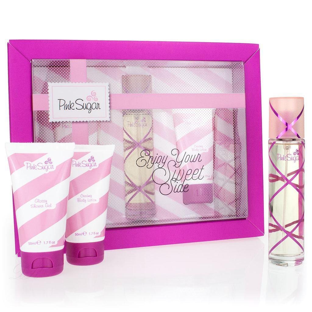 Aquolina Pink Sugar Gift Set edt 50ml + body lotion 50ml + shower gel 50ml
