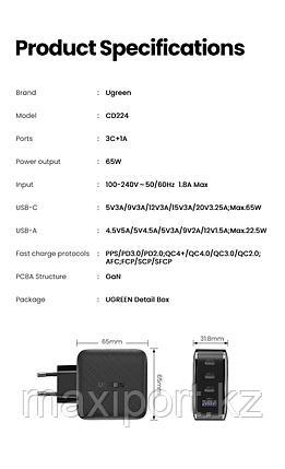 Зарядное устройство Ugreen 65W, фото 2