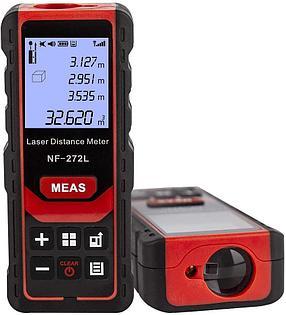 100м лазерная рулетка (цифровой угломер, расстояние, площадь, обьем, Пифагор), аккум li-ion, Bluetooth, фото 2