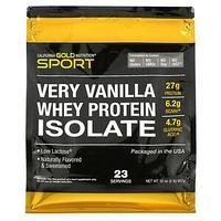 California Gold Nutrition, Изолят сывороточного протеина с ванильным вкусом, 907 г (2 фунта)