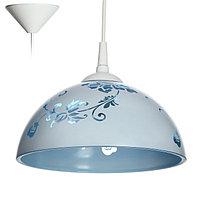 """Светильник Колпак """"Рочелл"""" 1 лампа E27 40Вт белый-синий д.250"""