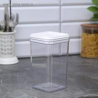 Ёмкость для сыпучих продуктов, 1,3 л, цвет прозрачный-белый