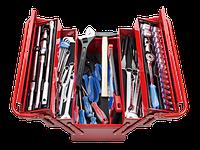 Набор инструментов универсальный, раскладной ящик, 62 предмета KING TONY