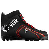Ботинки лыжные TREK Level 2 SNS, цвет чёрный, лого красный, размер 42