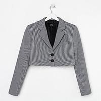 Пиджак женский укороченный MIST р. 44, чёрный/белый