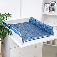 Матрасик на пеленальный комод, 80х67, голубой МИКС