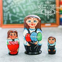 Матрёшка 3-х кукольная '1 сентября', 11 см