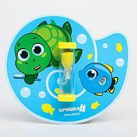 Песочные часы для чистки зубов на присоске 'Черепашка', 3 минуты