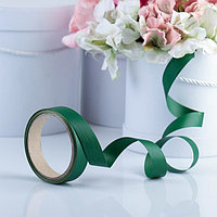 Лента для декора и подарков 'Аспидистр', зеленый, тиснение, 2 см х 10 м (комплект из 4 шт.)