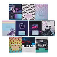 Тетрадь 18 листов в линейку 'MIX-10. Мальчики', обложка мелованный картон, блок офсет, МИКС (комплект из 12